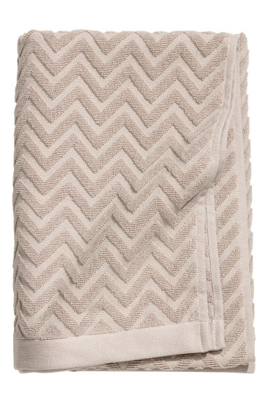 Jacquard-patterned bath towel - Mole - Home All | H&M GB