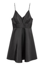 Satin dress - Black - Ladies | H&M 2