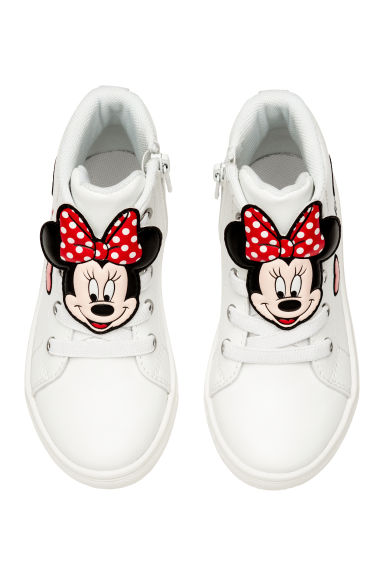 Hi-top trainers - White/Minnie Mouse - Kids | H&M