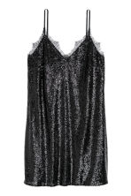 Sequined dress - Black/Glittery - Ladies | H&M 2