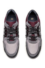 Suede and leather trainers - Burgundy/Grey - Men | H&M GB 2
