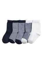 5-pack trainer socks - Dark blue - Kids | H&M 1