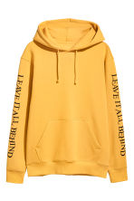 Hooded top with a motif - Yellow - Men | H&M CN 2