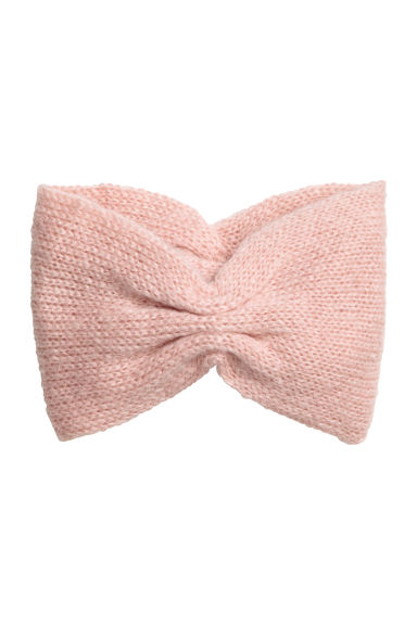 Knitted mohair-blend headband - Powder pink -  | H&M GB