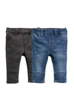 2-pack denim leggings - Denim blue/Black - Kids | H&M CN 1