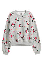 Printed sweatshirt - Grey marl/Mickey Mouse - Ladies | H&M CN 2