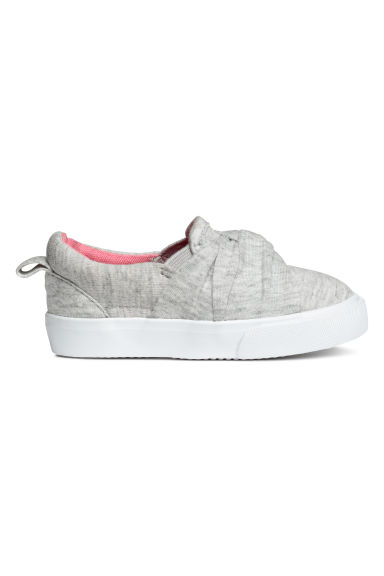 Slip-on trainers - Light grey marl - Kids | H&M CN