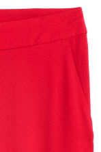 H&M+ Wide suit trousers - Red - Ladies | H&M CN 3
