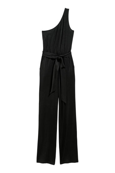 One-shoulder jumpsuit - Black -  | H&M