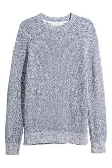 Washed cotton jumper
