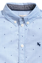 Cotton shirt - Light blue/Stars - Kids | H&M CN 4