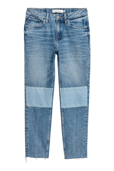 Straight Regular Ankle Jeans - 丹寧藍 -  | H&M