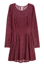 Lace dress - Burgundy - Ladies | H&M IE 2
