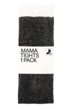 MAMA Glittery tights - Black/Glittery - Ladies | H&M 1