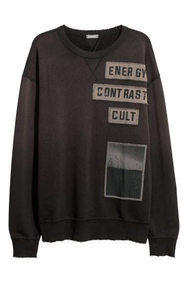 Sweater met applicaties - Zwart -  | H&M BE