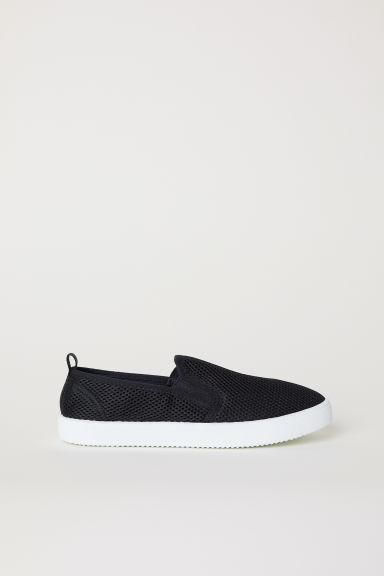 Sneakers slip-on in mesh - Nero - BAMBINO | H&M IT