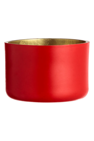 Small metal tealight holder - Red - Home All | H&M IE 1