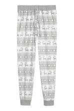Fleece pyjama bottoms - Light grey/Reindeer - Ladies | H&M IE 2