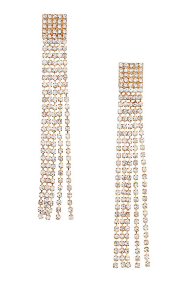 Sparkly earrings - Gold-coloured - Ladies | H&M CN 1