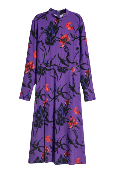 Patterned dress - Purple/Patterned - Ladies | H&M CN