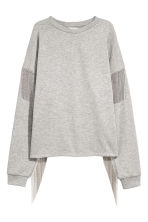 Sweatshirt with ball chains - Light grey - Ladies | H&M CN 2