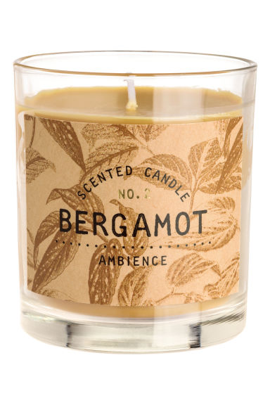 Scented candle in glass holder - Yellow/Bergamot -  | H&M IE