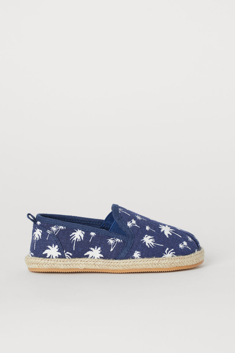 Espadrilles - Dark blue/Palm trees - Kids | H&M GB