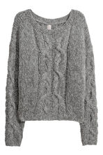 Cable-knit jumper - Dark gray - Ladies | H&M IE 2