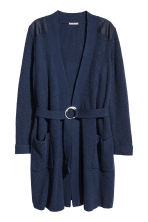 H&M+ Ribbed cardigan - Dark blue - Ladies | H&M 2