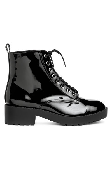 Patent boots - Black - Ladies | H&M IE