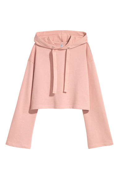 Sweat à capuche court - Pêche -  | H&M FR