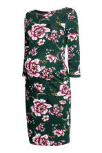 MAMA Jersey dress - Dark green/Floral - Ladies | H&M CN 2