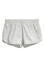Pyjamas with a top and shorts - Grey/Velour - Ladies | H&M CN 4