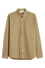 Cotton shirt Regular fit - Khaki green - Men | H&M 1