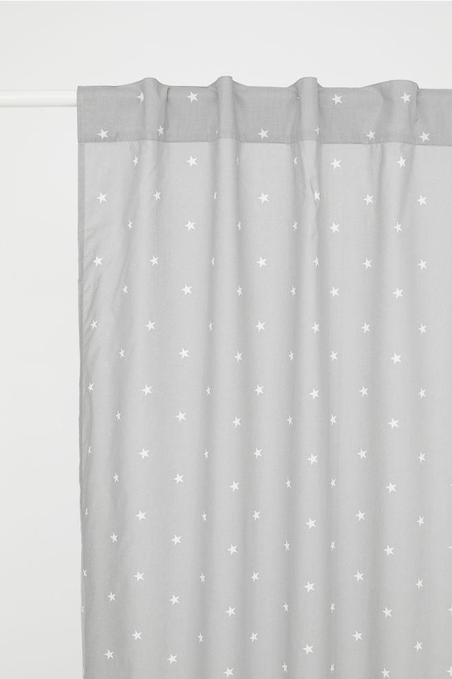 Gordijn met dessin - Grijs/sterren - | H&M NL