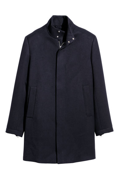 Short coat - Dark blue -  | H&M GB