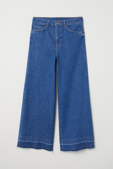 Denim culottes High waist