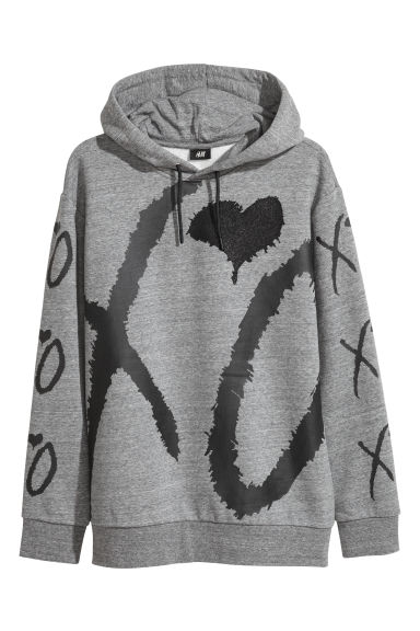 Hooded top - Grey marl/XO - Men | H&M