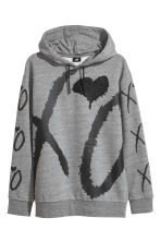 Hooded top - Grey marl/XO - Men | H&M 2