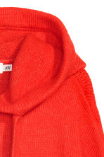 Knitted hooded jumper - Bright red - Ladies | H&M IE 3