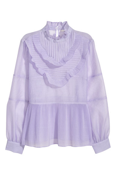 Pleated blouse - Light purple - Ladies | H&M