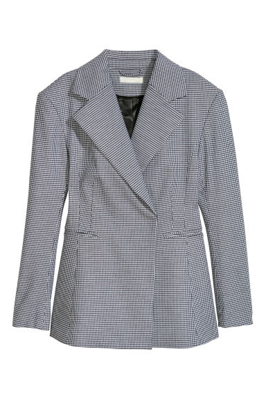 Fitted jacket - Dogtooth-patterned - Ladies | H&M CN