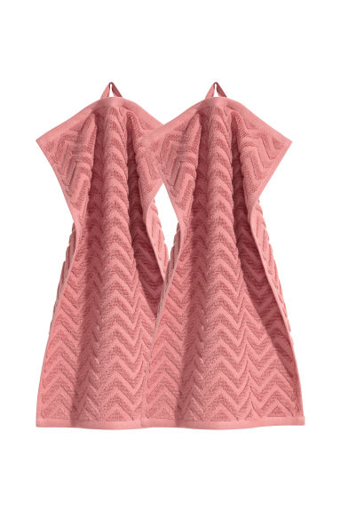 2-pack guest towels - Dark pink -  | H&M CN