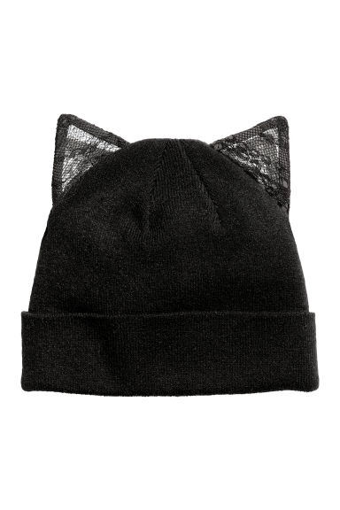 Hat with ears - Black - Ladies | H&M