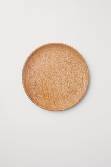 Wooden plate - Light natural - Home All | H&M IE