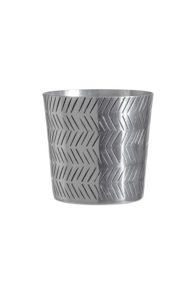 Small metal plant pot - Silver-coloured - Home All | H&M GB