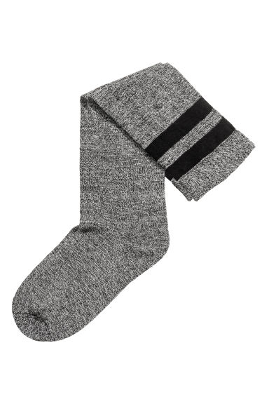 Knee socks - Black marl -  | H&M GB