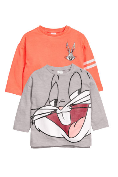 2-pack long-sleeved tops - Mole/Looney Tunes - Kids | H&M CN