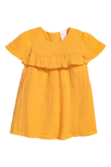 Cotton dress - Mustard yellow - Kids | H&M CN