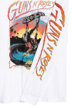 Jersey top with a print motif - Natural white/Guns N' Roses - Men | H&M GB 3